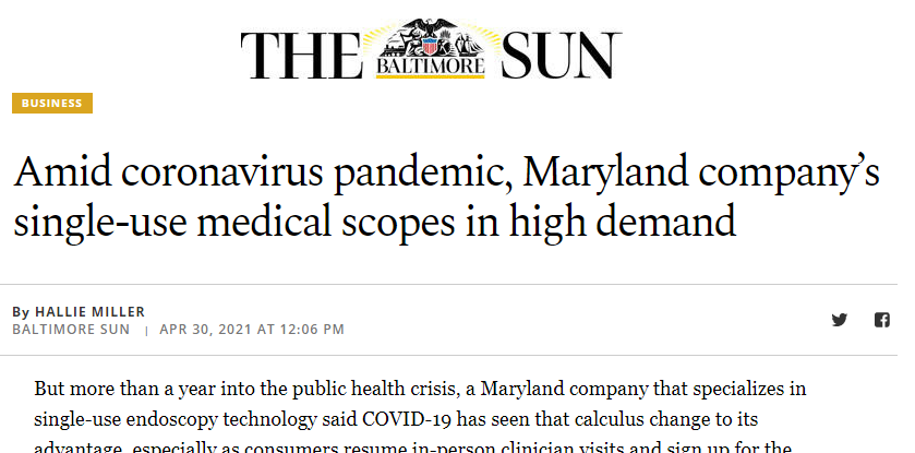 Baltimore Sun Article on Ambu